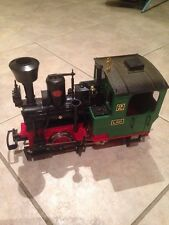 G GAUGE LGB No 2 STAINZ LOCO IN RED and GREEN IN VGC With DIRECTIONAL LIGHTS