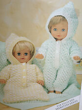 Dolls and Premature Babies All-in One, Sleeping Bag and Blanket Knitting Pattern