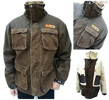 Mens CRANE SNOW Corduroy TRENDY MILITARY STYLE PIT ZIP SKI JACKET Size XL (1325)