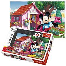Trefl 60 Pezzi Bambini Unisex Mickey & Minnie Mouse in giardino Puzzle Nuovo