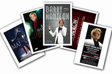 BARRY MANILOW - SET OF 5 - A4 POSTER PRINTS # 1