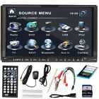 "7""Double 2Din Car HD DVD Player Stereo Radio GPS MAP CARD SAT NAV Bluetooth IPOD"