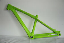 "Carbon fiber mountain bike frame mtb bicycle frameset 26er 14""  green glossy"
