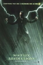 THE MATRIX REVOLUTIONS ORIGINAL MOVIE POSTER ~ AGENT SMITH LIGHTNING 27x40 Hugo