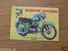 M23 WEERTER LUCIFERS,MATCHBOX LABELS FN M22 250 CC MOTORCYCLE