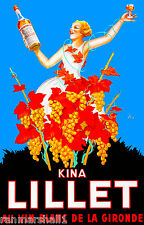 Kina Lillet Au Vin Blanc De La Gironde French Wine France Advertisement Poster