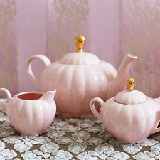 Bombay Duck Belle Teapot in Blush Pink & Gold - Tea Pot, Shabby Chic