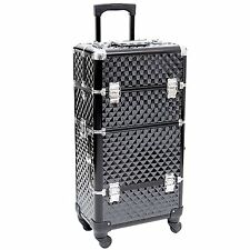 Songmics? Nail Art Make Up Beauty Case Trolley Suitcase Box Nail Polishes jhz04b