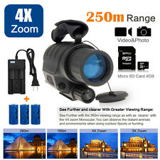 Night Vision Monocular IR Surveillance Camera Gen for Rifle Scope+CR123A Battery