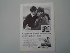advertising Pubblicità 1962 DENTIFRICIO COLGATE