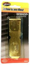 Deluxe Brass Metal Latch Hasp Padlock Door Guard Security Lock Exterior Interior