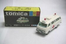 VINTAGE TOMICA 57 TOYOTA HIACE COMMUTER AMBULANCE MADE IN JAPAN