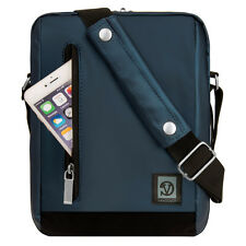 "Navy Blue Shoulder Messenger Bag case for iPad Air / Pro 9.7"" / LG G Pad 2 10.1"