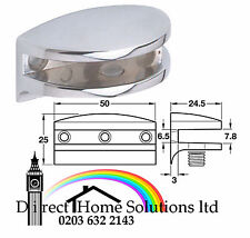 4 X POLISHED CHROME GLASS SHELF SUPPORT BRACKET UP TO 6mm
