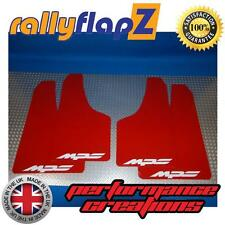 Rally Mudflaps MAZDA 3 MPS (07-09) Mk1 Mud Flaps Red Logo White 4mm PVC