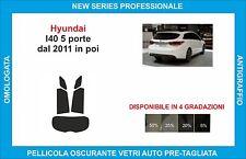 pellicole oscuranti vetri hyundai I40 5p dal 2011 in poi kit posteriore