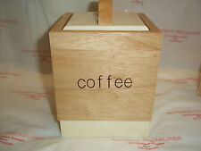 T& G Woodware Tone2 Collection Coffee Canister BNIB