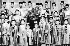 The King and I Yul Brynner Posing With His Children From Cast 11x17 Mini Poster