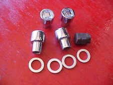 set of 4,1/2 x 20 locking mag wheel chrome lug nuts,with key,rat rod 3/4 shank