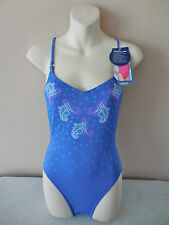 "SPEEDO SWIMWEAR FEMALE 'PAISLEY' 1 PIECE SWIMSUIT HIGH LEG - 34"" bust - BNWT"