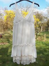 Amazing Topshop Ivory Cream Lace Babydoll Summer Dress Size 6.