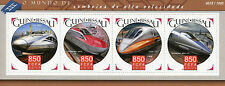 Guinea-Bissau 2015 MNH High-Speed Trains 4v M/S Shinkansen Railways Stamps