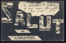 cpa Cachet BROC SUISSE en 1905 SALUT de LA GRUYÈRE Scènes et Types