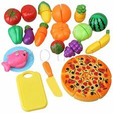24pcs Fruit Vegetable Cutting Set Baby Kids Kitchen Pretend Educational Toy Gift