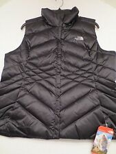 The North Face ACONCAGUA 550 DOWN VEST TNF BLACK Womens SIZE LARGE L NWT