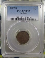 1909-S 1C. Indian Head Cent PCGS VF25. **Key Date**