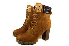 Elegante Damen Boots Herbst Hohe Stiefeletten Warm Stiefel Gr.36-41 A.676H Neu
