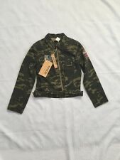 NWT Women's Neslay Large Army Military Camouflage Light Jacket Embroidery