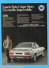 QUATTROR982-PUBBLICITA'/ADVERTISING-1982- LANCIA BETA COUPE' 1300
