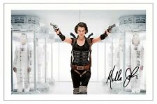 MILA JOVOVICH - RESIDENT EVIL SIGNED PHOTO PRINT POSTER AUTOGRAPH