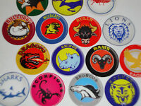 12 RUGBY TEAM 1 INCH BOWLS STICKERS CROWN GREEN LAWN FLAT GREEN BOWLING