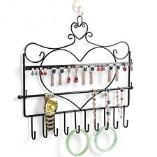 Metal Jewellery Wall Hanger Holder Organizer Stand Heart Necklace Earrings