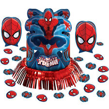 Marvel Spider-Man Birthday Party Centerpiece confetti Table Decorating Kit