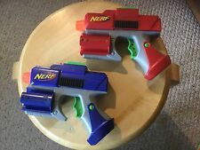 "Pre Owned 2 7"" Nerf Guns.  Blue and Red.  See Pictures."
