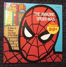 1977 Amazing SPIDER-MAN Book of Colors & Days of The Week HC FVF Jim Mooney