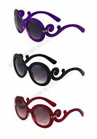 New Fashion Designer Inspired High Fashion Sunglasses with Baroque Swirl Arms
