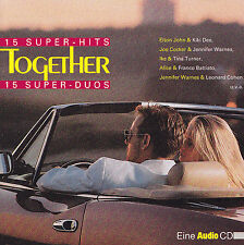 AUDIO  - CD - TOGETHER - 15 SUPER-HITS -15 SUPER-DUOS