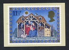 "A Post Office Picture Card. Issued 1979 ""Christmas/The Scene at the Manger""."