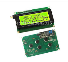 Yellow Serial IIC/I2C/TWI 2004 204 20X4 Character LCD Module Display For Arduino