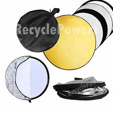 60cm 5 in 1 Collapsible Disc Photo Photography Light Multi Reflector Panel Bag