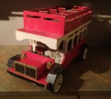 Vintage Wooden Toy Bus Rare Antique Collectors Item Retro Classic Double Decker