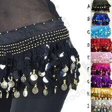 Egypt Belly Dance Dancing Hip Scarf Wrap Belt Skirt Sequins Tassels dress