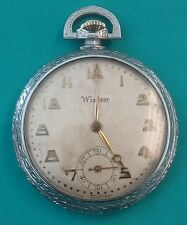 Vintage Windsor Pocket Watch 6 Jewels Jagot Watch Co. Swiss