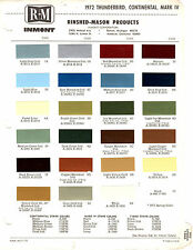 1972 FORD THUNDERBIRD LINCON CONTINENTAL MARK IV 72 PAINT CHIPS RINSHED MASON 3