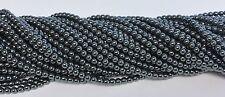 """10 Strands Hematite 4mm Beads Natural Gemstone 4mm Round Ball Beads 16"""" strand"""