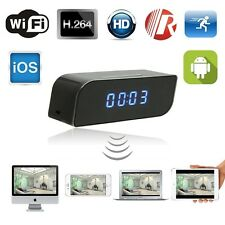 Wireless Wifi Ip Spy Reloj Cámara de Visión Nocturna Full Hd 1280 * 720p Video Grabadora